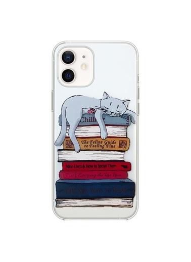Microsonic Microsonic iPhone 11 Desenli Kılıf Kedi Renkli